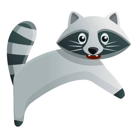 Angry raccoon icon. Cartoon of angry raccoon vector icon for web design isolated on white background