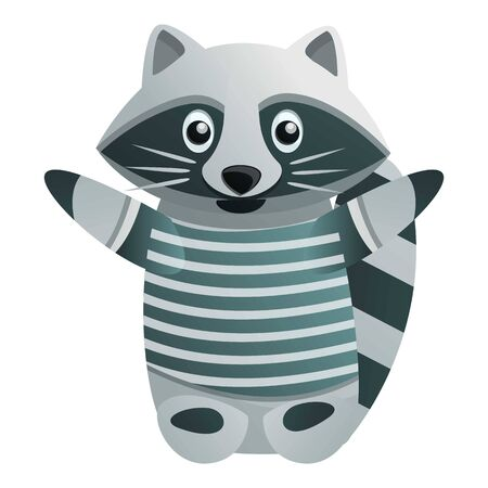 Marine raccoon icon. Cartoon of marine raccoon vector icon for web design isolated on white background Stock Illustratie