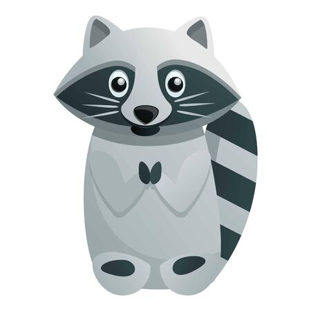 Cute raccoon icon. Cartoon of cute raccoon vector icon for web design isolated on white background