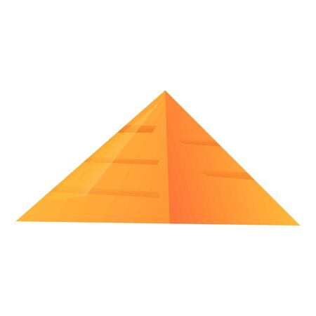 Pyramide icon. Cartoon of pyramide vector icon for web design isolated on white background  イラスト・ベクター素材