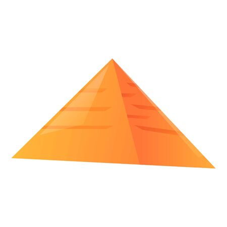 Egypte pyramide icon. Cartoon of Egypte pyramide vector icon for web design isolated on white background