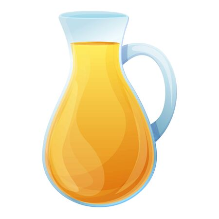 Olive oil glass jug icon. Cartoon of olive oil glass jug vector icon for web design isolated on white background