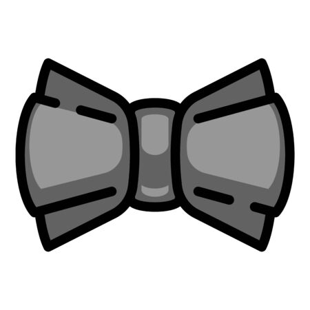 Black bow tie icon. Outline black bow tie vector icon for web design isolated on white background