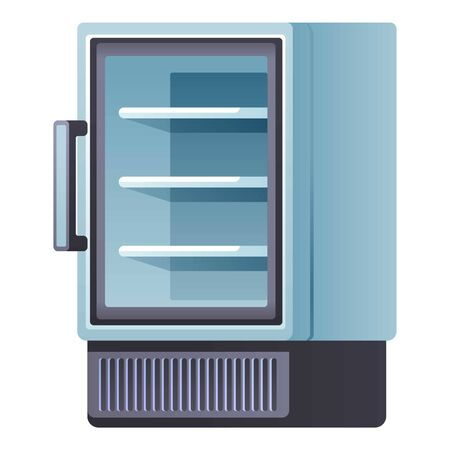 Hotel drink fridge icon. Cartoon of hotel drink fridge vector icon for web design isolated on white background Illustration