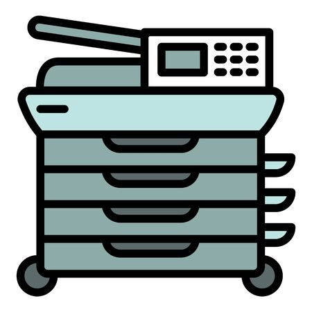 Office digital printer icon. Outline office digital printer vector icon for web design isolated on white background