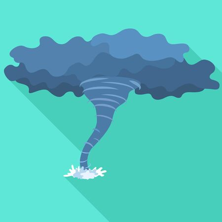 Storm hurricane icon. Flat illustration of storm hurricane vector icon for web design
