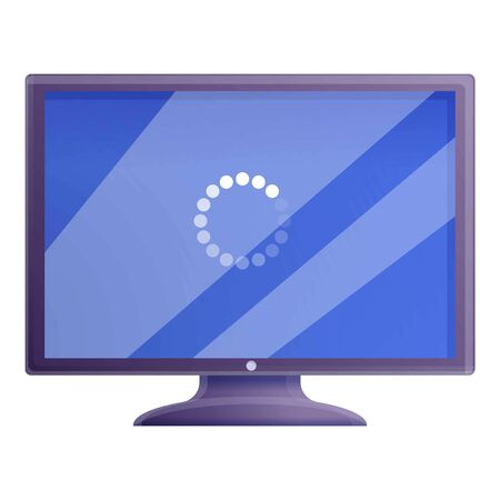 Desktop computer update icon. Cartoon of desktop computer update vector icon for web design isolated on white background