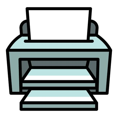 Ink jet printer icon. Outline ink jet printer vector icon for web design isolated on white background  イラスト・ベクター素材