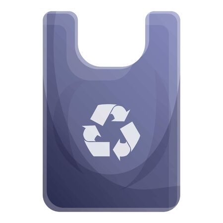 Recycle bag icon. Cartoon of recycle bag vector icon for web design isolated on white background