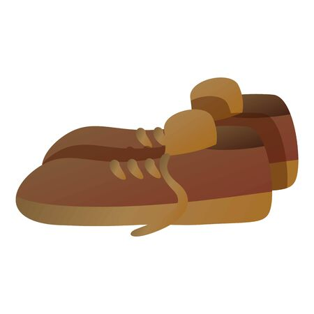 Man garbage shoes icon. Cartoon of man garbage shoes vector icon for web design isolated on white background Çizim