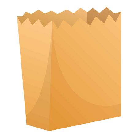 Package paper icon. Cartoon of package paper vector icon for web design isolated on white background