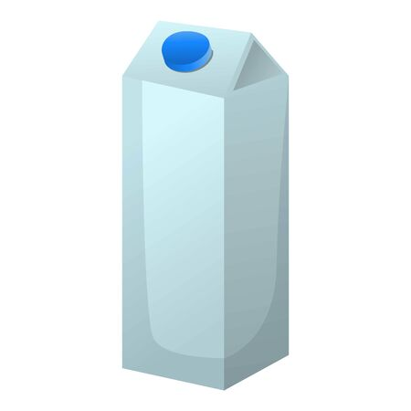 Milk tetrapack icon. Cartoon of milk tetrapack vector icon for web design isolated on white background