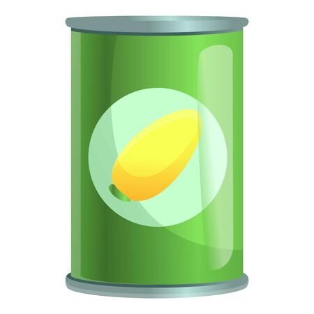 Fruit tin can icon. Cartoon of fruit tin can vector icon for web design isolated on white background