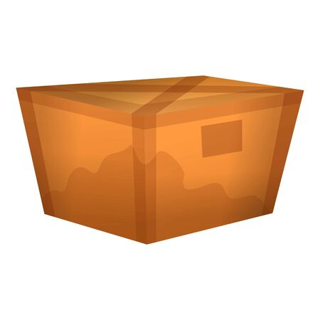 Used carton box icon. Cartoon of used carton box vector icon for web design isolated on white background