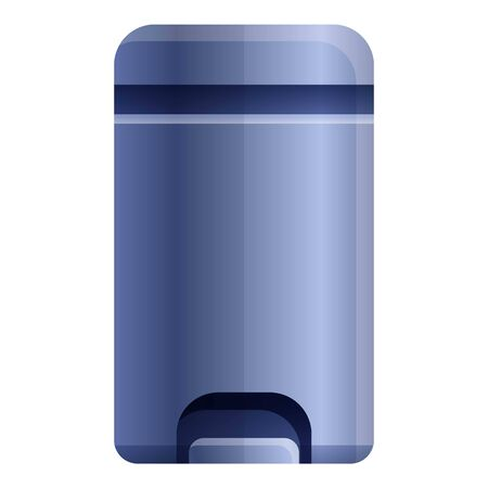 Metal garbage bin icon. Cartoon of metal garbage bin vector icon for web design isolated on white background Illustration