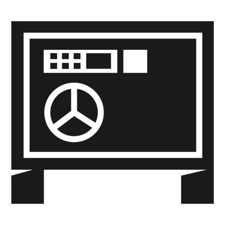Digital money safe icon. Simple illustration of digital money safe icon for web design isolated on white background