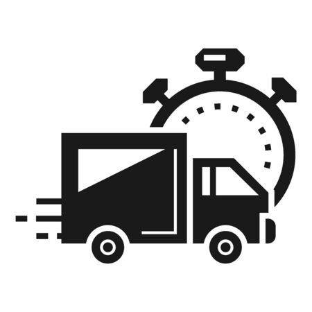Fast parcel delivery icon. Simple illustration of fast parcel delivery icon for web design isolated on white background