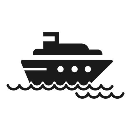 Cargo ship icon. Simple illustration of cargo ship icon for web design isolated on white background Stock Photo