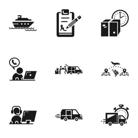 Jeu d'icônes de livraison de colis. Ensemble simple de 9 icônes de livraison de colis pour la conception web isolé sur fond blanc Banque d'images