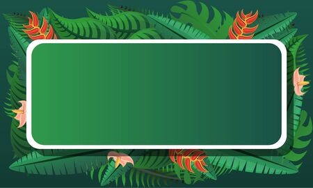 Tropical exotic concept banner. Cartoon illustration of tropical exotic concept banner for web design