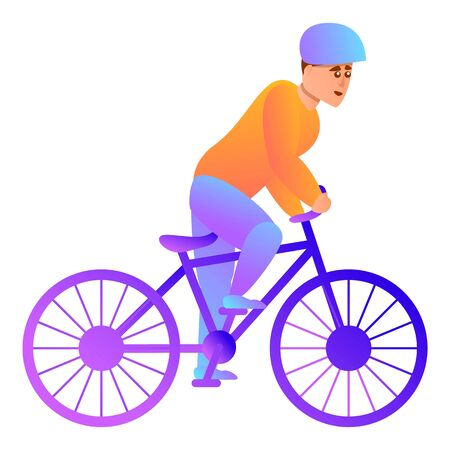Cycling icon. Cartoon of cycling icon for web design isolated on white background