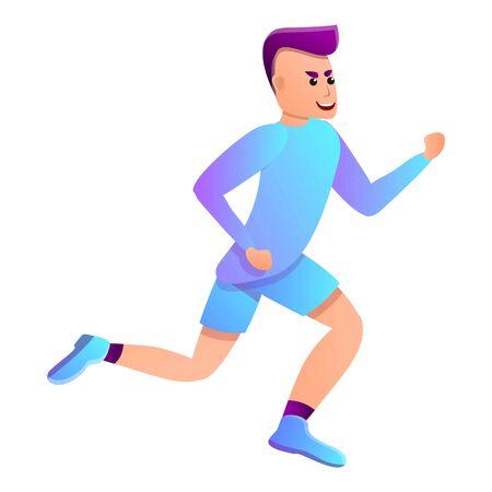 Man triathlon running icon. Cartoon of man triathlon running icon for web design isolated on white background 스톡 콘텐츠 - 131392225