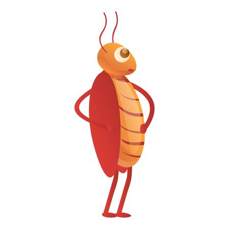 Cockroach bug icon. Cartoon of cockroach bug icon for web design isolated on white background