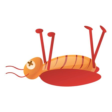 Dead cockroach icon. Cartoon of dead cockroach icon for web design isolated on white background