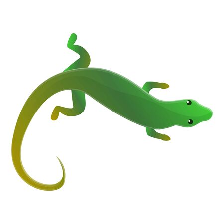 Top view lizard icon. Cartoon of top view lizard icon for web design isolated on white background