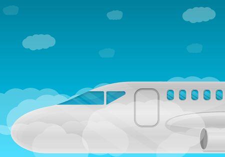 Airplane concept banner. Stockfoto