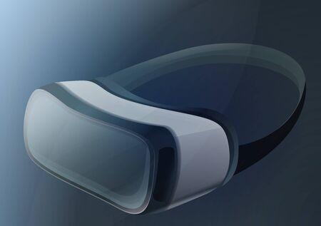 Vr headset concept banner. Cartoon illustration of vr headset concept banner for web design