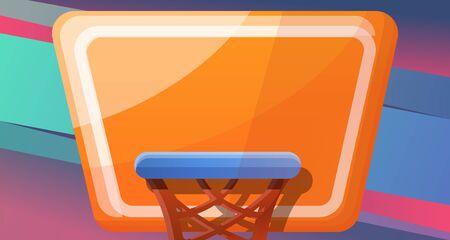 Basketball concept banner. Cartoon illustration of basketball concept banner for web design