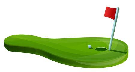 Golf field concept banner. Cartoon illustration of golf field concept banner for web design 写真素材