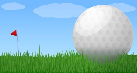 Golf club concept banner. Cartoon illustration of golf club concept banner for web design 写真素材