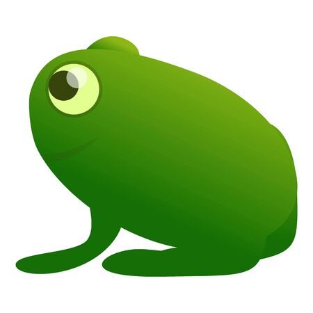 Green frog icon. Cartoon of green frog icon for web design isolated on white background