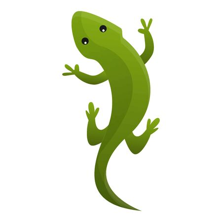 Top view reptile icon. Cartoon of top view reptile icon for web design isolated on white background Stock Photo