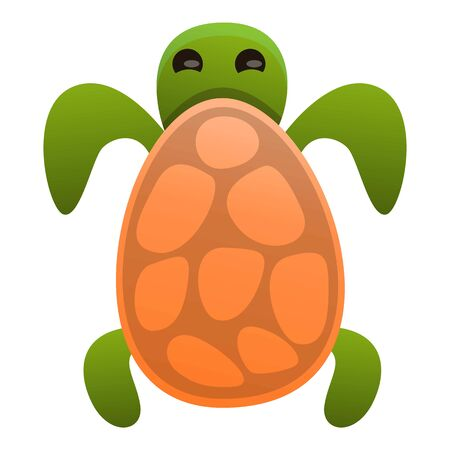 Top view turtle icon. Cartoon of top view turtle icon for web design isolated on white background Stockfoto