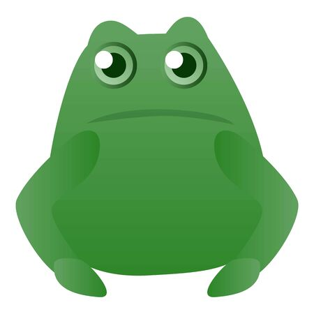 Fat frog icon. Cartoon of fat frog icon for web design isolated on white background