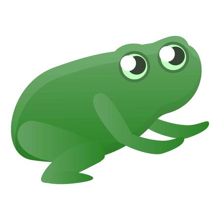 Jumping frog icon. Cartoon of jumping frog icon for web design isolated on white background