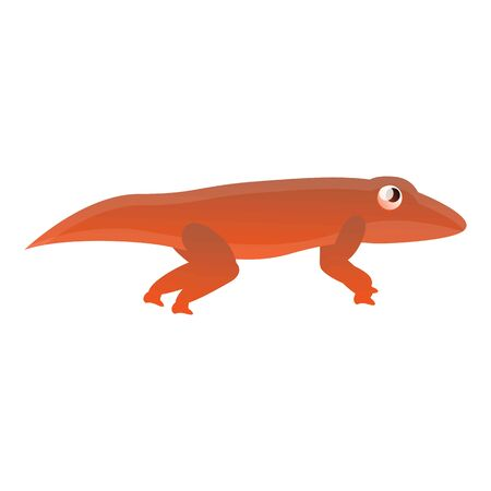 Red reptile icon. Cartoon of red reptile icon for web design isolated on white background Stok Fotoğraf