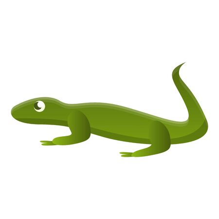 Green lizard icon. Cartoon of green lizard icon for web design isolated on white background