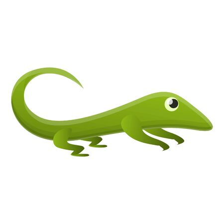 Zoo lizard icon. Cartoon of zoo lizard icon for web design isolated on white background