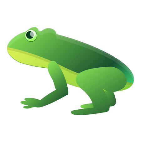 Zoo frog icon. Cartoon of zoo frog icon for web design isolated on white background