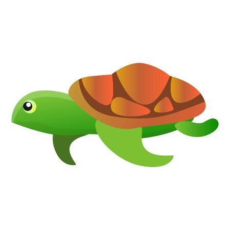 Ocean turtle icon. Cartoon of ocean turtle icon for web design isolated on white background