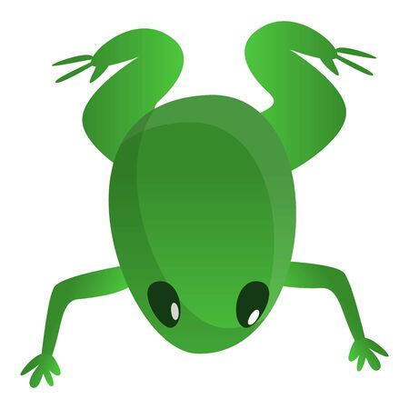 Small frog icon. Cartoon of small frog icon for web design isolated on white background