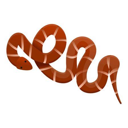Desert snake icon. Cartoon of desert snake icon for web design isolated on white background