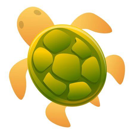 Kid turtle icon. Cartoon of kid turtle icon for web design isolated on white background Stok Fotoğraf