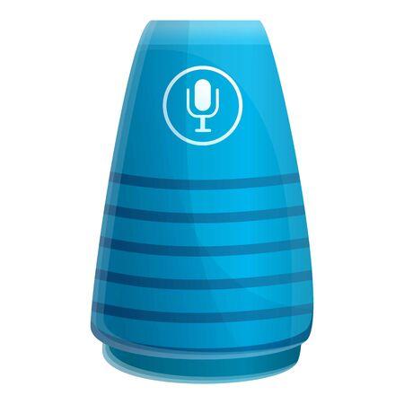 Blue smart speaker icon. Cartoon of blue smart speaker icon for web design isolated on white background 写真素材