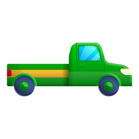 Green pickup icon. Cartoon of green pickup icon for web design isolated on white background
