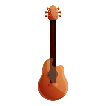 Brazil acoustic guitar icon. Cartoon of brazil acoustic guitar icon for web design isolated on white background Фото со стока - 131240078